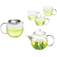 TenFu Glass Teapot and Teacup Set Thicken High Temperature and Transparent