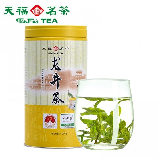 Ming Qian Loose leaf  Refreshing Dragon Well Green Tea- First Flush Chinese Longjing Green Tea Leaves 100g 3.52 OZ