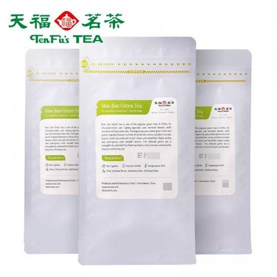 Sichuan Mao Jian Green Tea,Loose Leaf Tea Bag200G