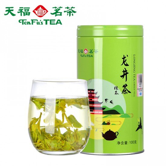 China Ming Qian Dragon Well  Green Tea - Best Chinese Loose Leaf  Lung Ching Green Tea